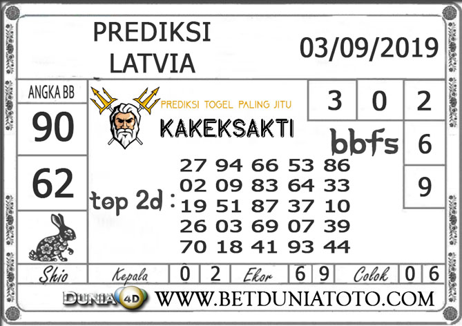 """Prediksi Togel """"LATVIA"""" DUNIA4D 03 SEPTEMBER 2019"""