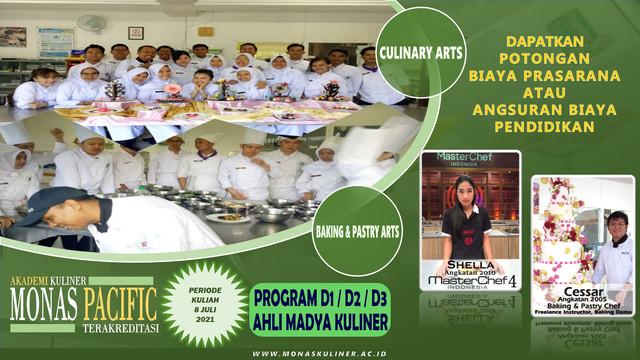 Biaya Kuliah Akademi Kuliner Monas Pacific Terbaru