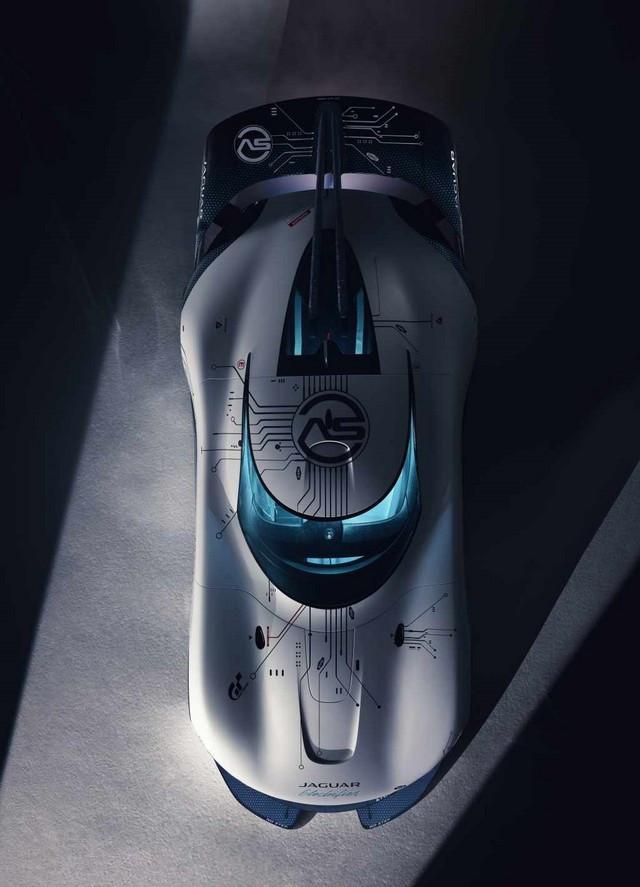 Jaguar Lève Le Voile Sur La Vision Gran Turismo SV : La Voiture De Course 100% Électrique Ultime Pour Les Passionnés De Course Automobile Jag-GTSV-Overhead-161220