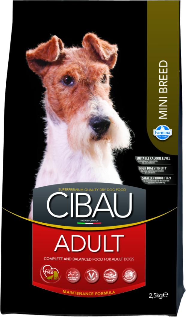Cibau პატარა ჯიშის ზრდასრ. ძაღლებისთვის 2,5  კგ     ( Farmina )