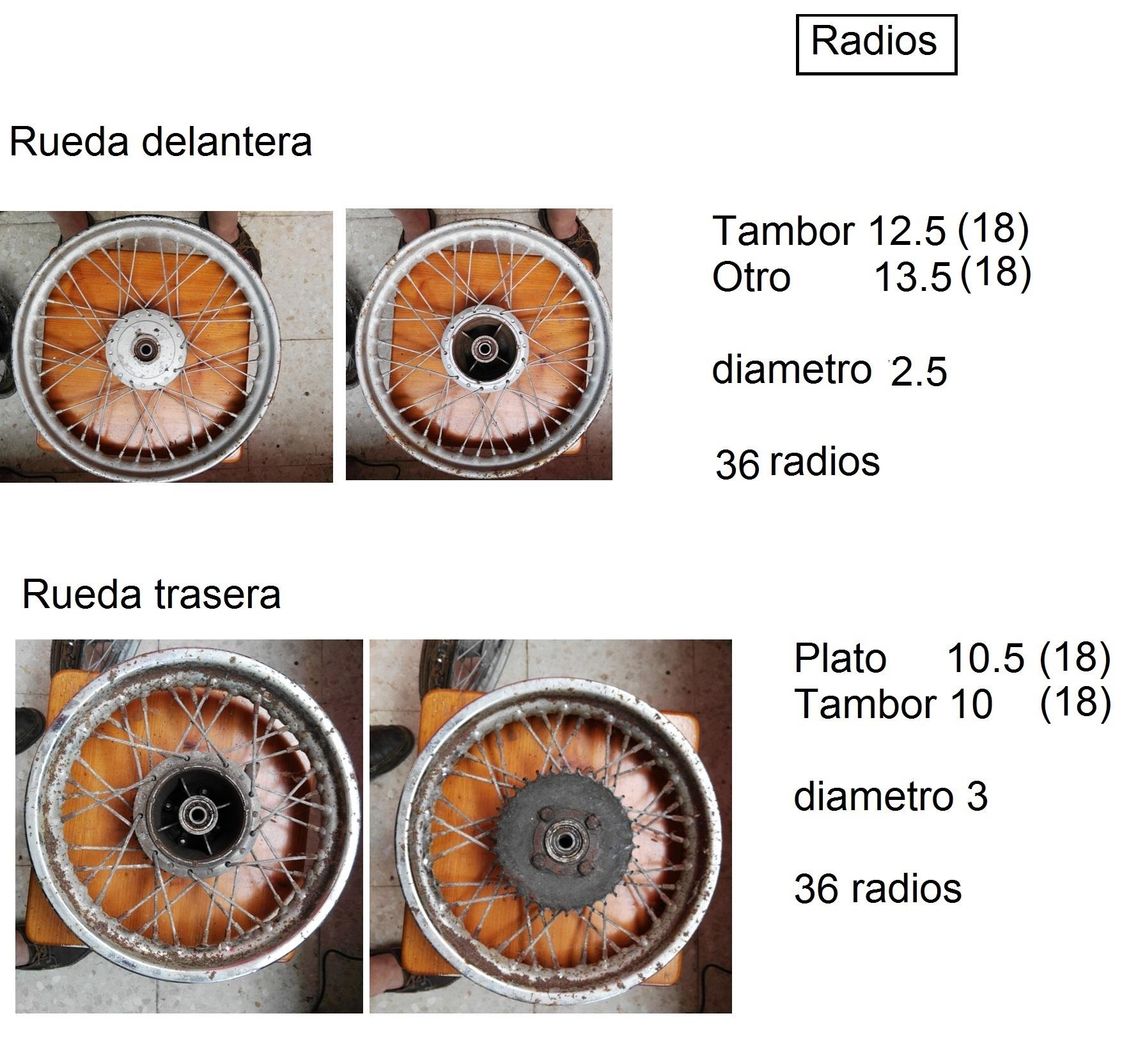 Puch Magnum X - Medidas De Radios Radios-medidas