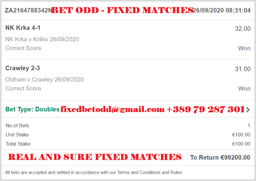 BET ODD FIXED MATCH