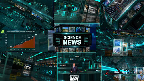 Corporate Economics Science News Broadcast Full Package 23927140 - Project for After Effects (Videohive)