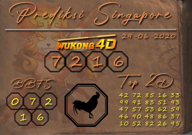 Prediksi Togel SINGAPORE WUKONG4D 29 JUNI 2020