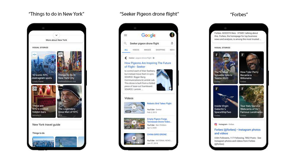 Image of Google Web Stories