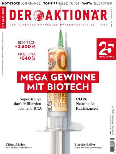 Cover: Der Aktionär Magazin No 34 vom 20 August 2021