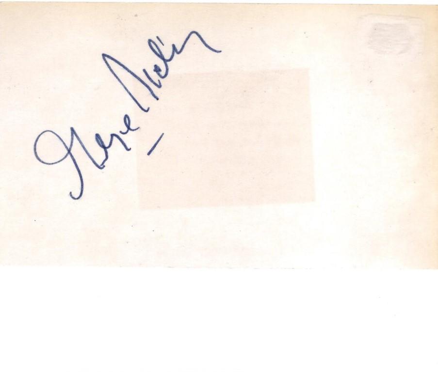 George Sidney signed 3 x 5 card, George Sidney