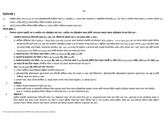 BPSC Assistant Teacher Job Circular page 012