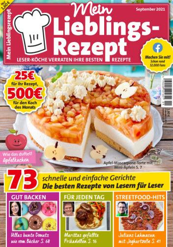 Cover: Mein Lieblingsrezept Magazin No 09 2021
