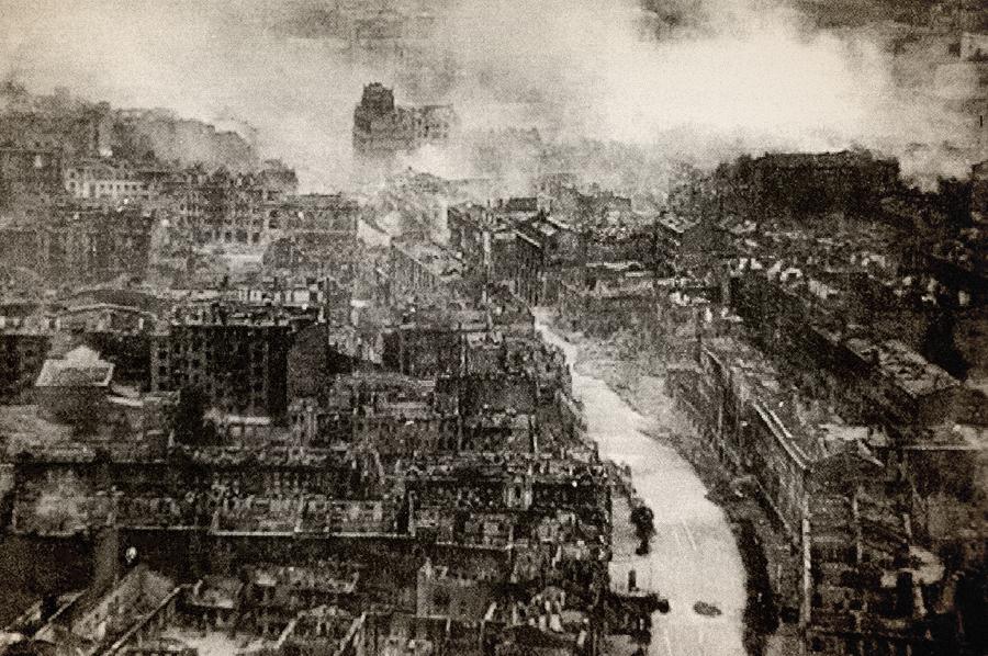 Burnt Khreschatyk, September 1941