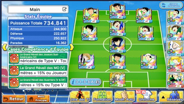 Captain tsubasa dream team grande rencontre