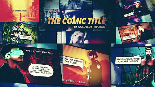Fast Comic Opener 26428538 - Project for After Effects (Videohive)