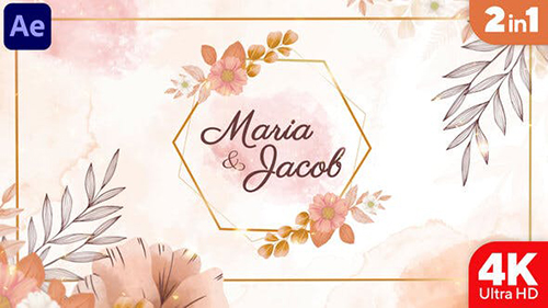 Watercolor Wedding Invitation 34305109 - Project for After Effects (Videohive)
