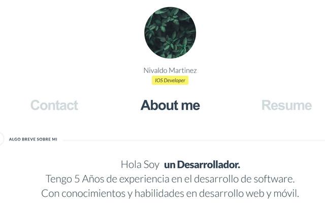 Nivaldo Martinez Website