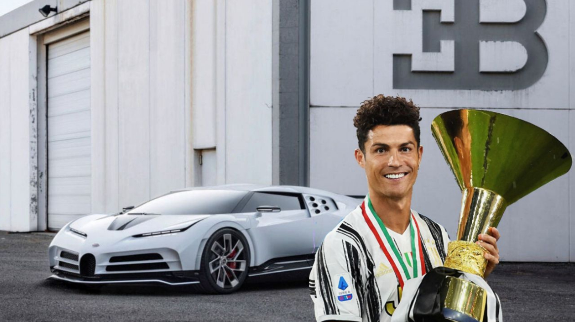 La Bugatti Centodieci che si è comprato CR7 Cristiano Ronaldo per festeggiare il 2° Scudetto con la Juventus.