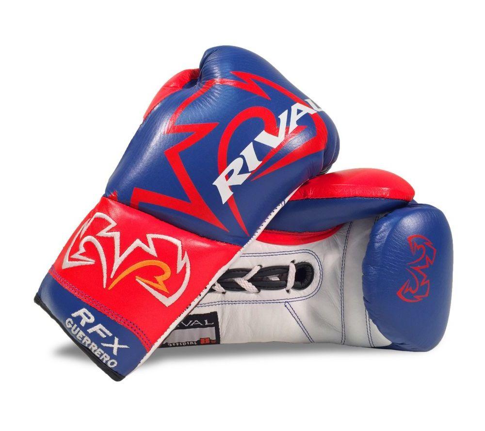 Боксерские перчатки боевые RIVAL RFX-GUERRERO PRO HDE-F Кожа