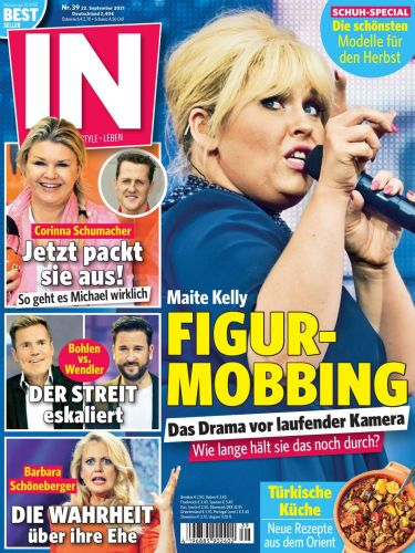 Cover: In Leute, Lifestyle, Leben Magazin No 39 vom 22  September 2021