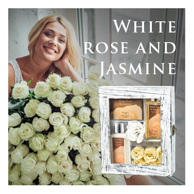 Bath Body and Spa Gift Sets in Relaxing White Rose and Jasmine Fragrance Perfect for Women