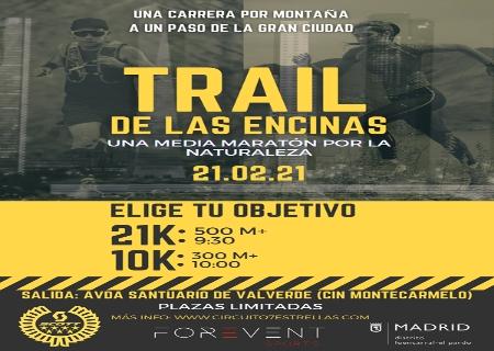 El Trail de las Encinas – Circuito 7 Estrellas Trail tendrá lugar el 21 de febrero