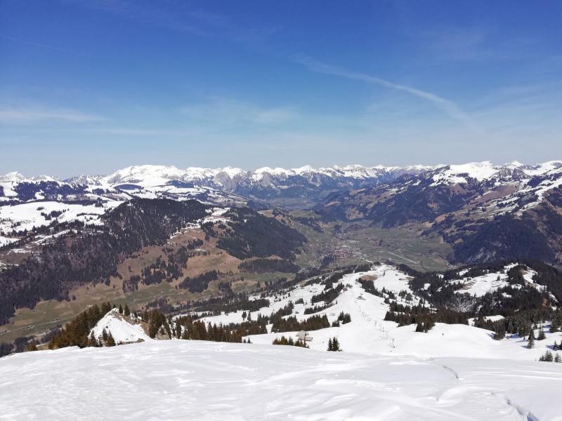 View from Rinderberg summit on Zweisimmen (north)