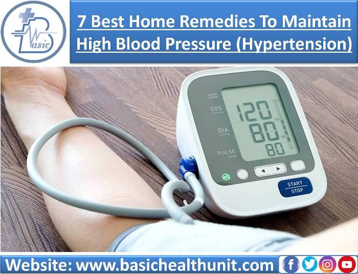 7 Best Home Remedies to Maintain High Blood Pressure (Hypertension)
