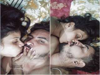DESI PUNJABI COUPLE KISSING