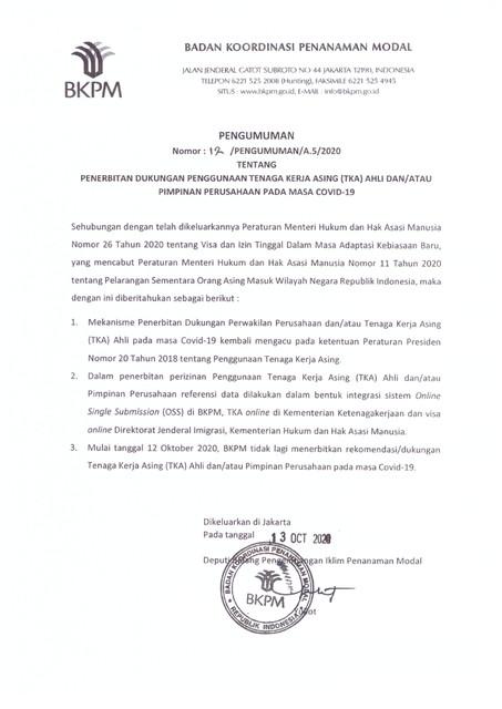 Lembaga Oss Bkpm Pelayanan Perizinan Berusaha Terintegrasi Secara Elektronik