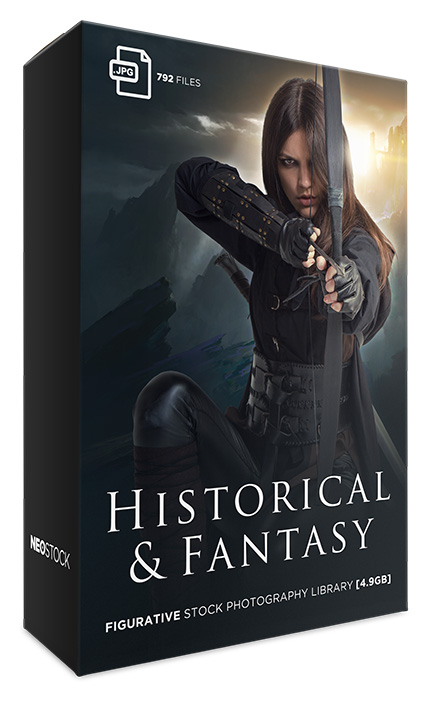 historical and fantasy photo stock library bundle neostock