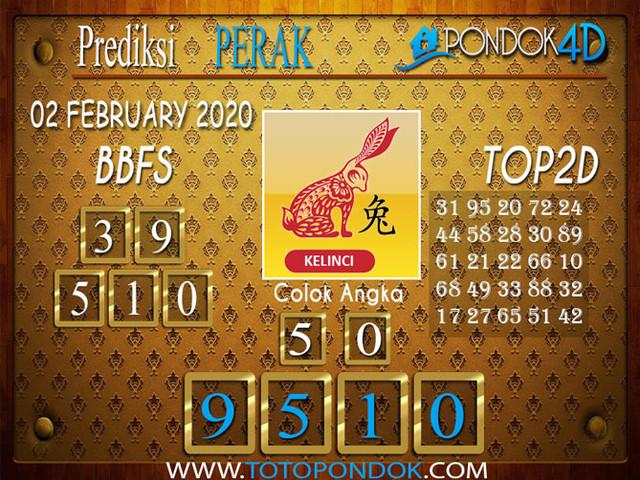 Prediksi Togel PERAK PONDOK4D 02 FEBRUARY 2020