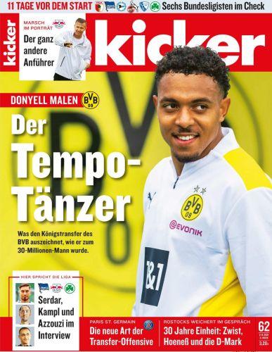 Cover: Kicker Sportmagazin No 62 vom 02  August 2021