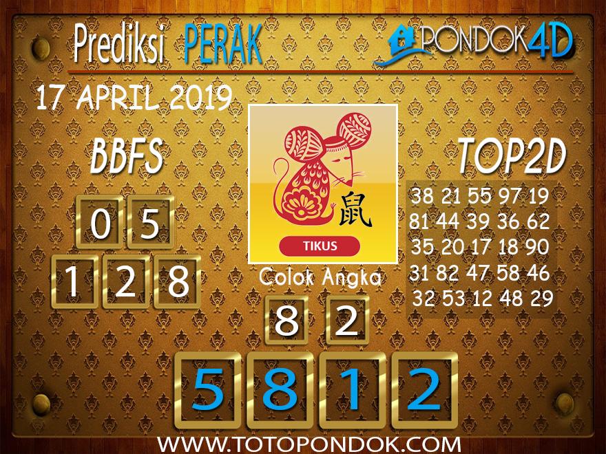 Prediksi Togel PERAK PONDOK4D 17 APRIL 2019