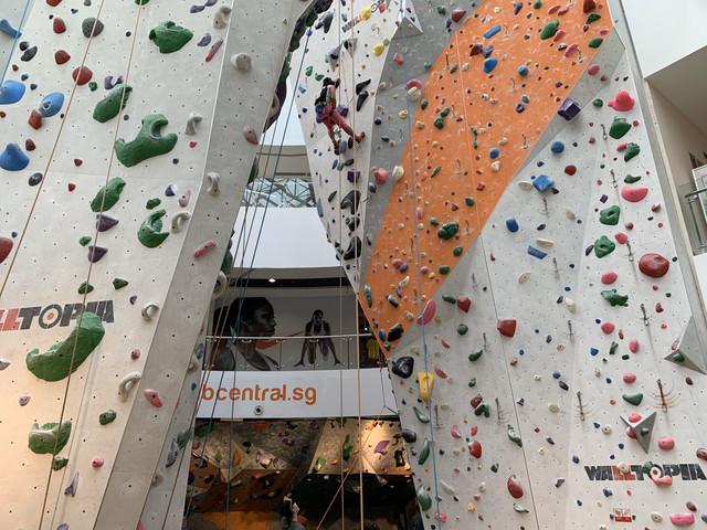ClimbCentral gym at Kallang Wave Mall