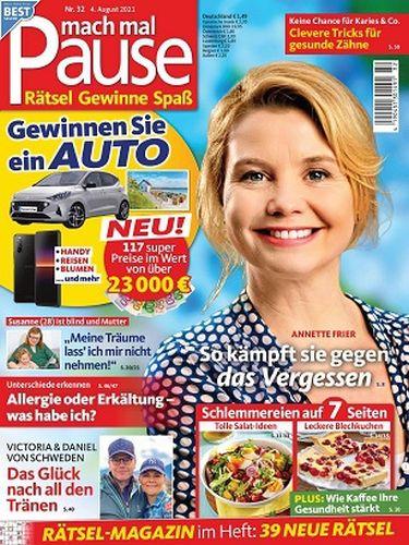 Cover: Mach mal Pause Rätselmagazin No 32 vom 04  August 2021