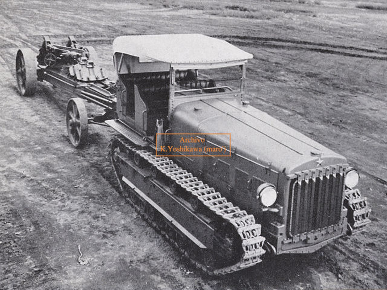 "Type 92 8t Prime Mover ""Ni-Ku"" (Japanese artillery tractor)."