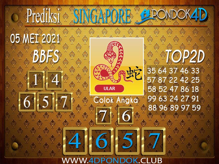 Prediksi Togel SINGAPORE PONDOK4D 05 MEI 2021