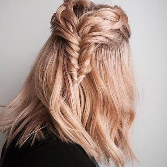 Champagne-strawberry-styled-hair