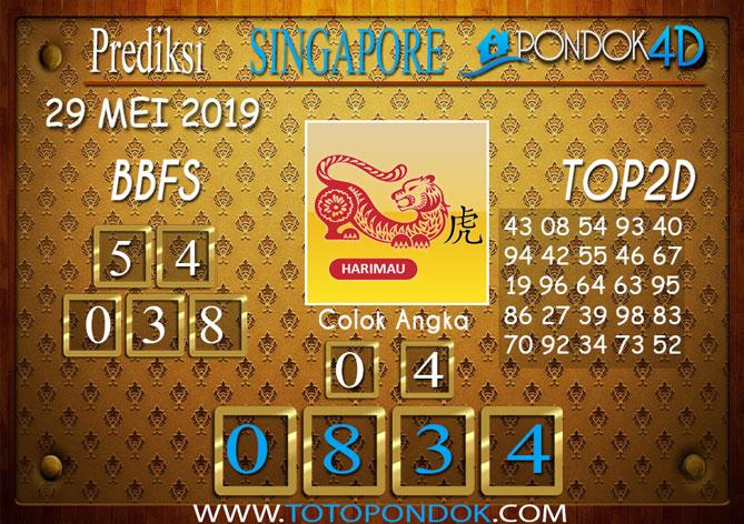 Prediksi Togel SINGAPORE PONDOK4D 29 MEI 2019