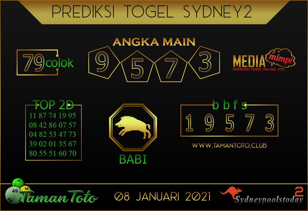 Prediksi Togel SYDNEY 2 TAMAN TOTO 08 JANUARI 2021