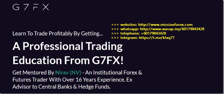 [Missionforex.com]G7FX – Pro Course + Foundation Course