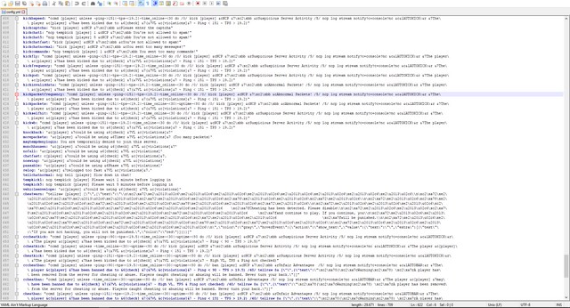C Users Ben David Neerfeld Desktop Main Coding Server plugins No Cheat Plus config yml Notepad 17 10