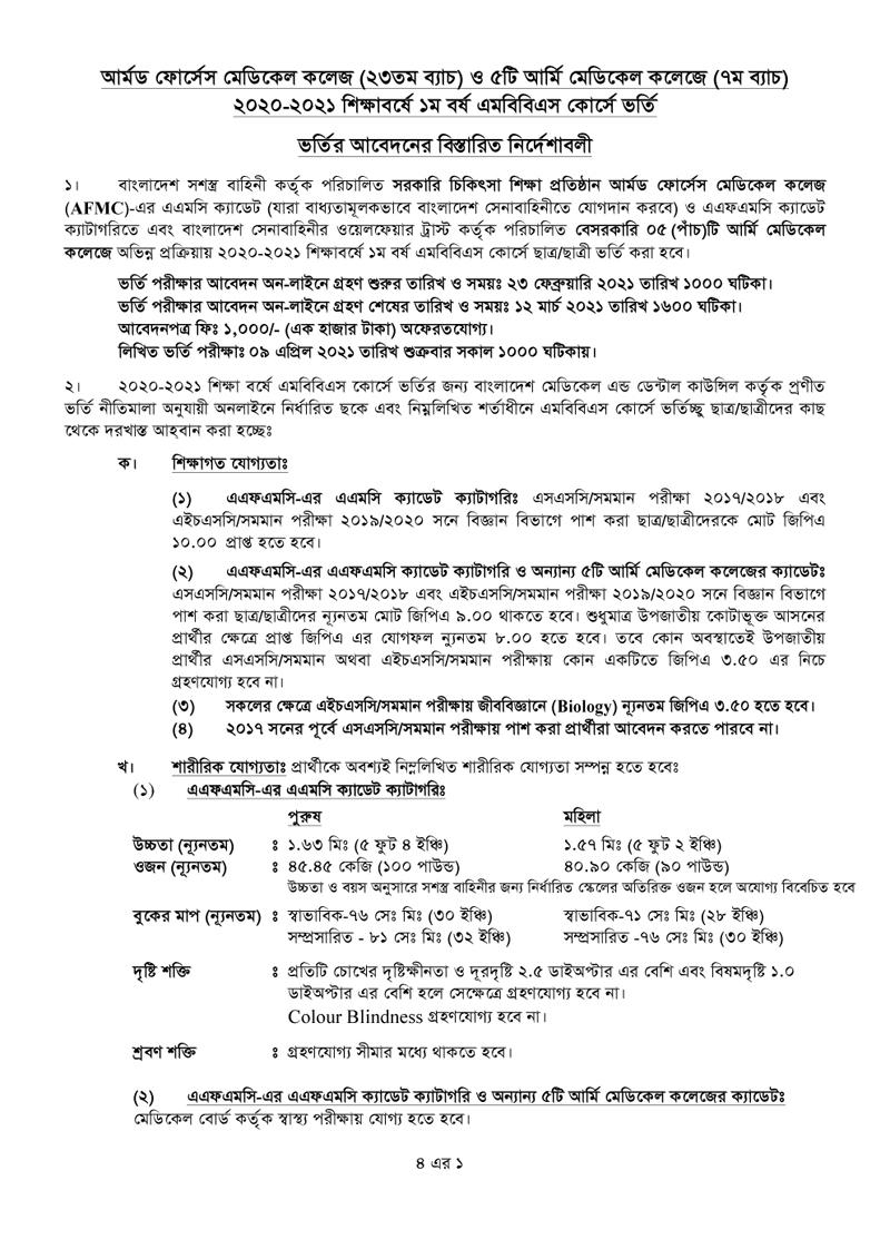 AFMC Medical Admission