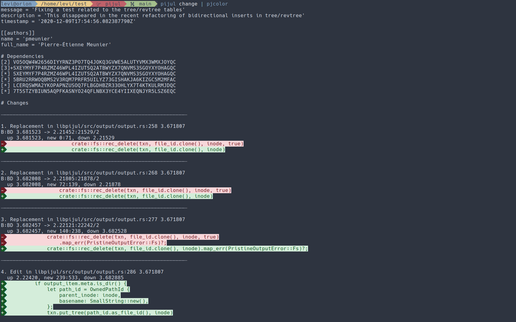 Pjcolor on Alacritty terminal
