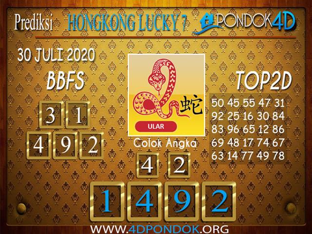 Prediksi Togel HONGKONG LUCKY 7 PONDOK4D 30 JULI 2020