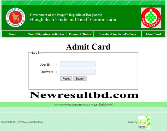 BTC-Admit-Card
