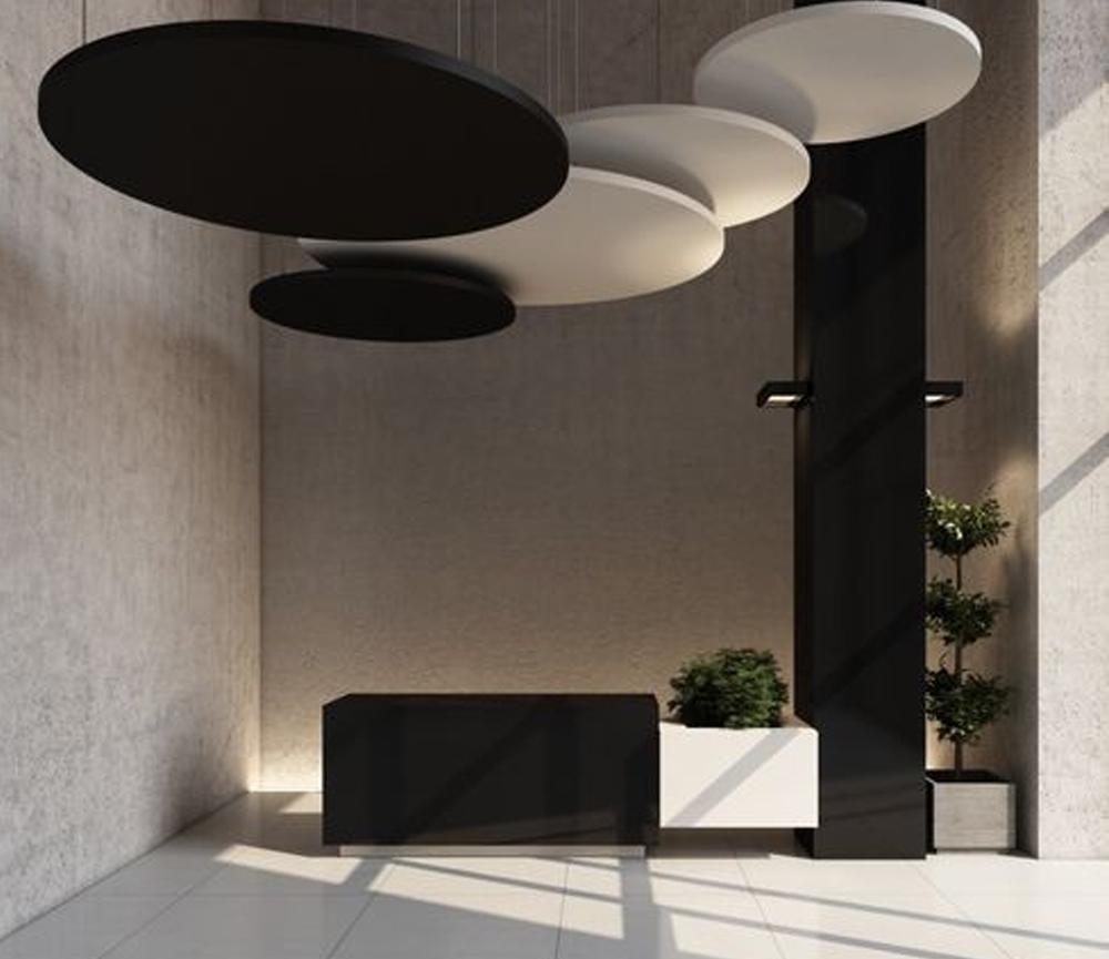 Polyester acoustic panel / for false ceilings / design / for public buildings CLASS Soundtect                                                                                                                                                     More