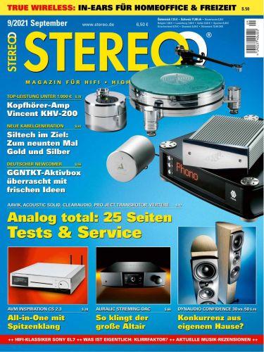 Cover: Stereo Magazin für HiFi, High End und Musik No 09 2021