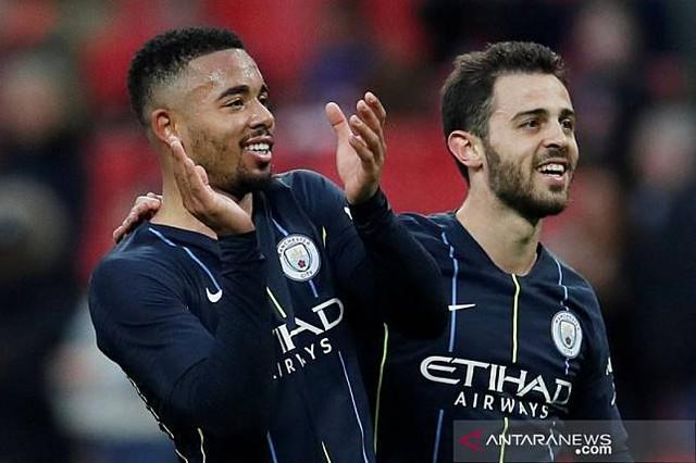 Manchester City lewati Brighton ke final, jaga peluang caturgelar