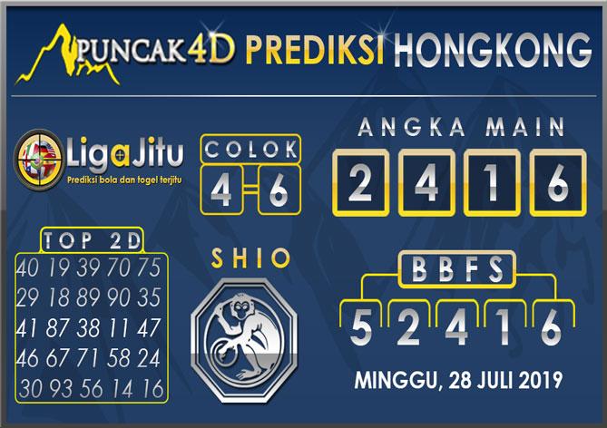 PREDIKSI TOGEL HONGKONG PUNCAK4D 28 JULI 2019