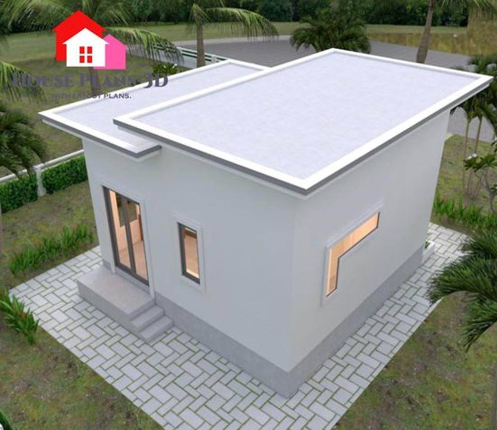 Desain Rumah Kecil dengan Tema White House