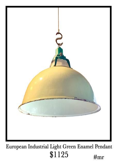 european-industrial-light-green-enamel-pendant